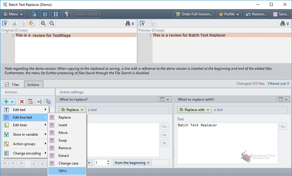 Portable Batch Text Replacer 2.13 Download