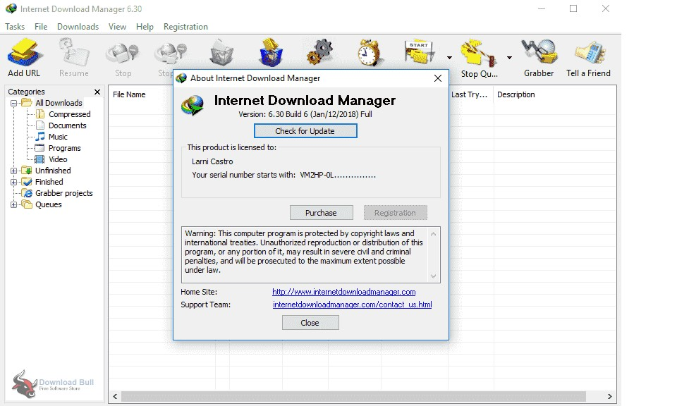 Portable Internet Download Manager 6.3