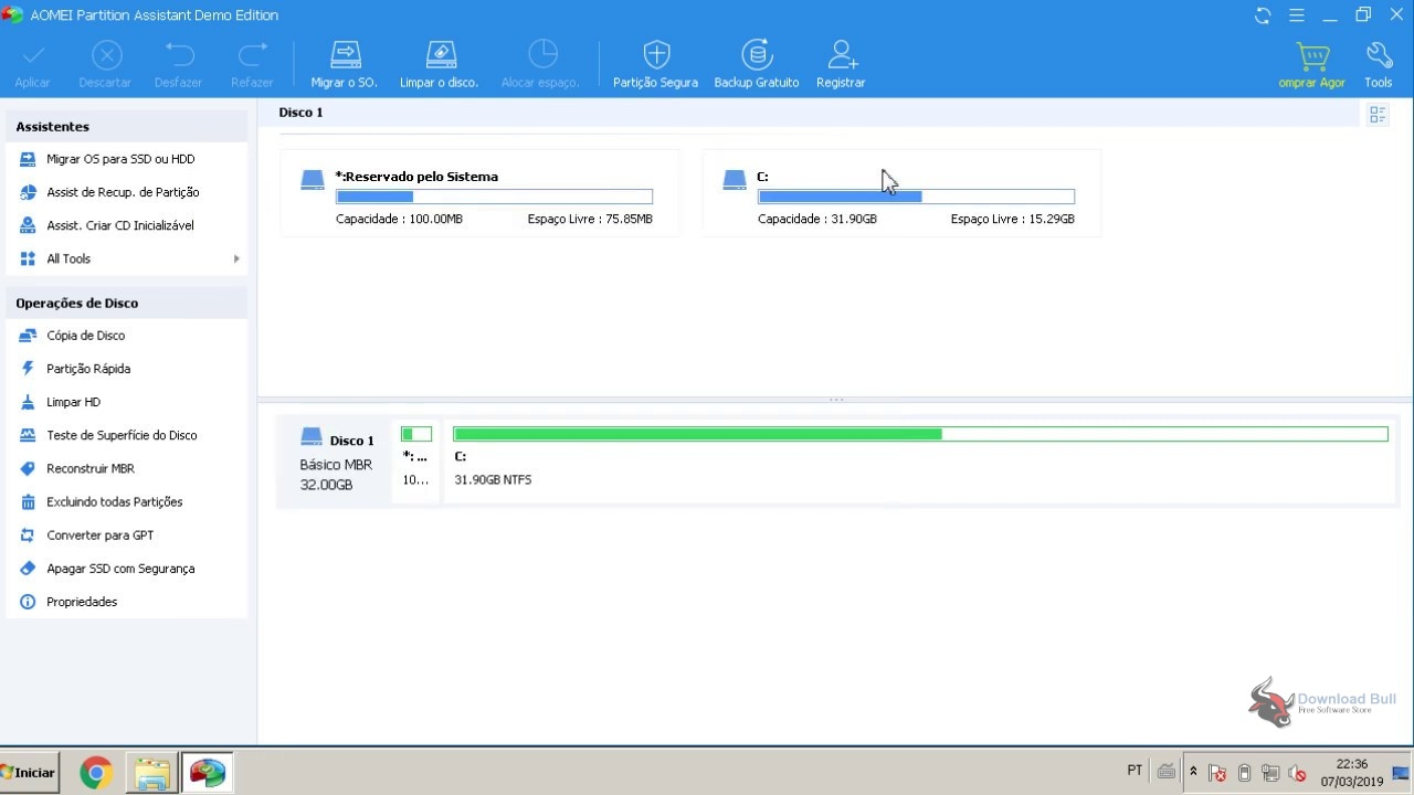 Portable AOMEI Partition Assistant 8.7