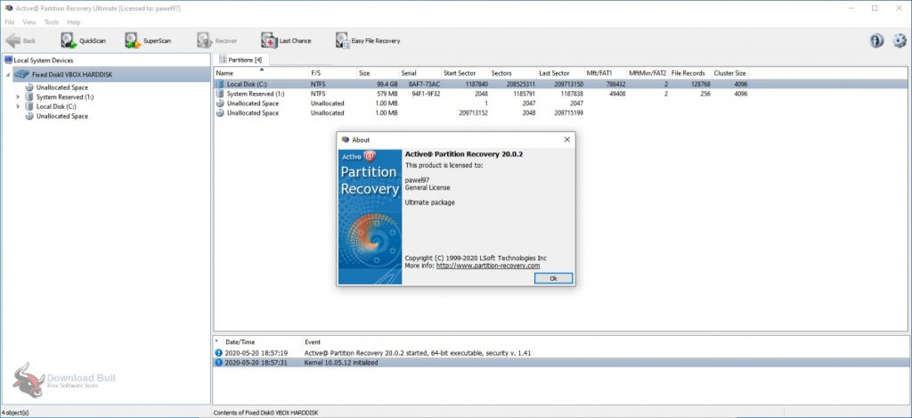 Portable Active@ Partition Recovery Ultimate 20.0 Free Download