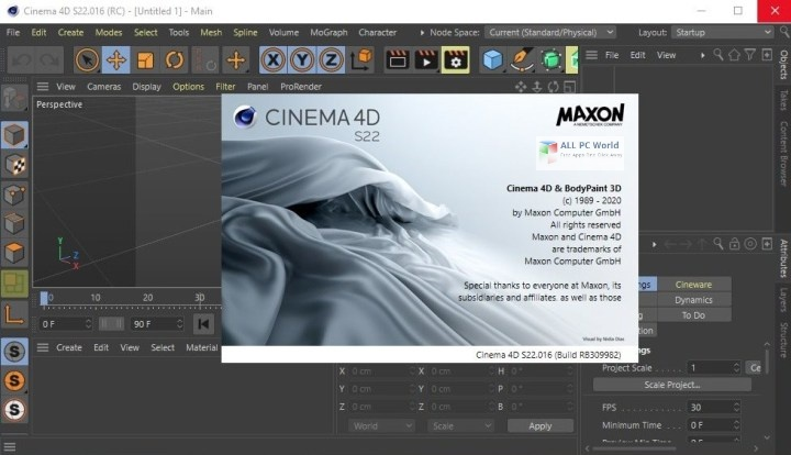 Portable CINEMA 4D Studio 2020 S22