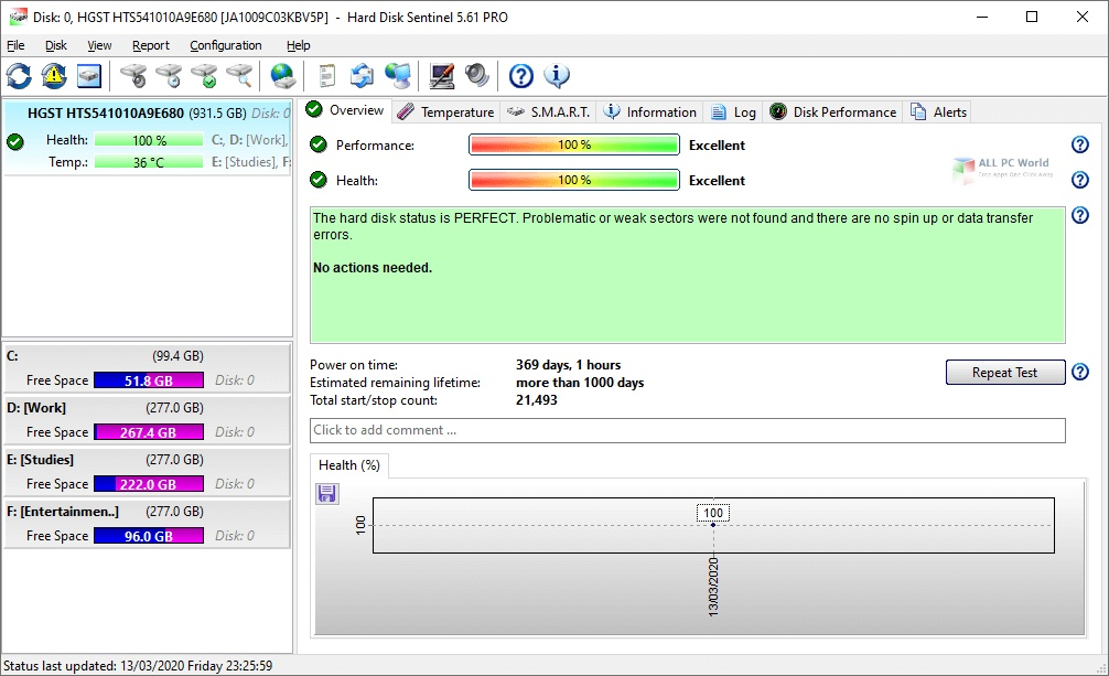 Portable Hard Disk Sentinel Pro 2020 Download