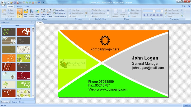 Portable EximiousSoft Business Card Designer Pro 3.31 Free Download