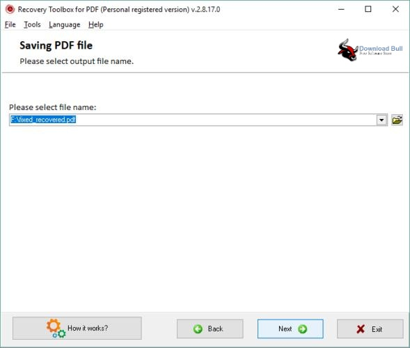 Portable Recovery Toolbox for PDF 2.1 One-Click Download