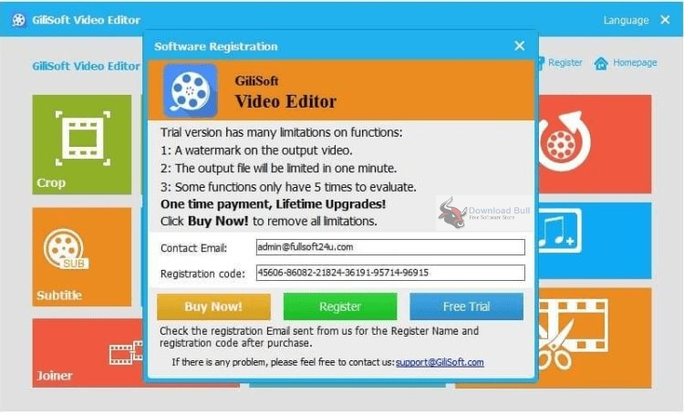 Portable GiliSoft Video Editor 13.1 One-Click Download