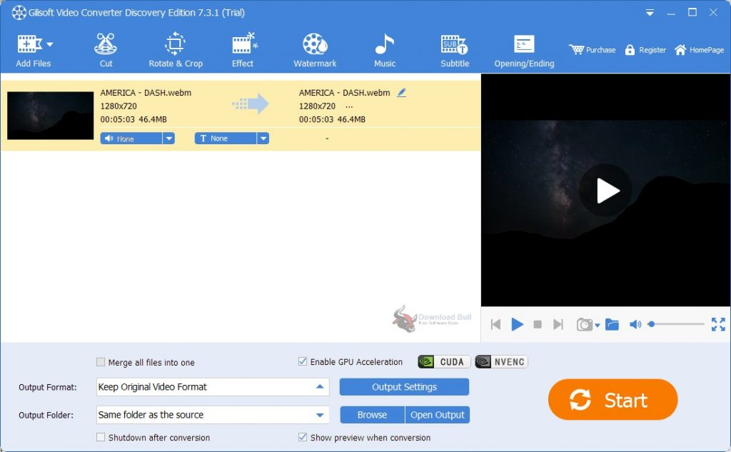 Portable Gilisoft Video Converter Discovery Edition 11.0 One-Click Download
