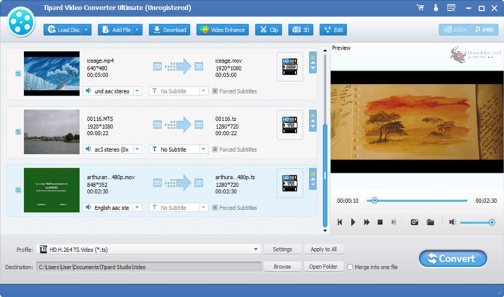 Portable Tipard Video Converter Ultimate 10.1 Direct Download Link