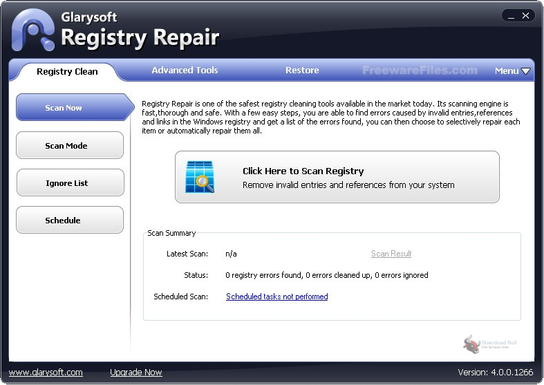 Portable Glarysoft Registry Repair 5.0 One-click Download
