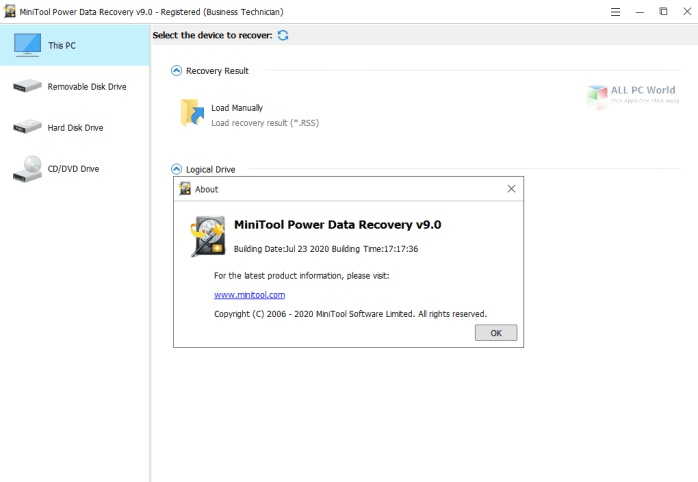 Portable MiniTool Power Data Recovery 9.2 for Windows